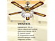 Vents - Mennyezeti ventilátor lámpa, réz (5 lapát, 5xE27 foglalat)