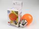 Mentavill Színes LED lámpa E27 (1W/200°) Kisgömb - narancs