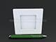 Mini négyzet LED panel (85x85 mm) 3W - meleg fehér