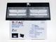 V-TAC Napelemes oldalfali lámpa (fekete) 7W 4000K+4000K