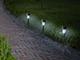 Nortene Astra kerti, leszúrható, napelemes szolár LED lámpa - fém színű (inox)