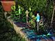 Nortene Atusa kerti, leszúrható, napelemes szolár LED lámpa - fém színű (inox)