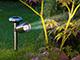 Nortene Scoop kerti leszúrható, napelemes szolár LED lámpa - inox színű