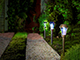 Nortene Areis kerti, leszúrható, napelemes  szolár LED lámpa - acél szín