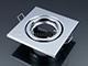 V-TAC - Olcsó négyzet alakú spot lámpatest, billenthető, króm