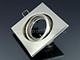 V-TAC - Olcsó négyzet alakú spot lámpatest, billenthető, mattkróm
