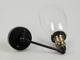 V-TAC Lofty karos oldalfali lámpa (E27) fekete kar, kupolás bura