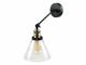 V-TAC Lofty karos oldalfali lámpa (E27) fekete kar, tölcsér bura