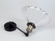 V-TAC Lofty karos oldalfali lámpa (E27) fekete kar, fodros bura