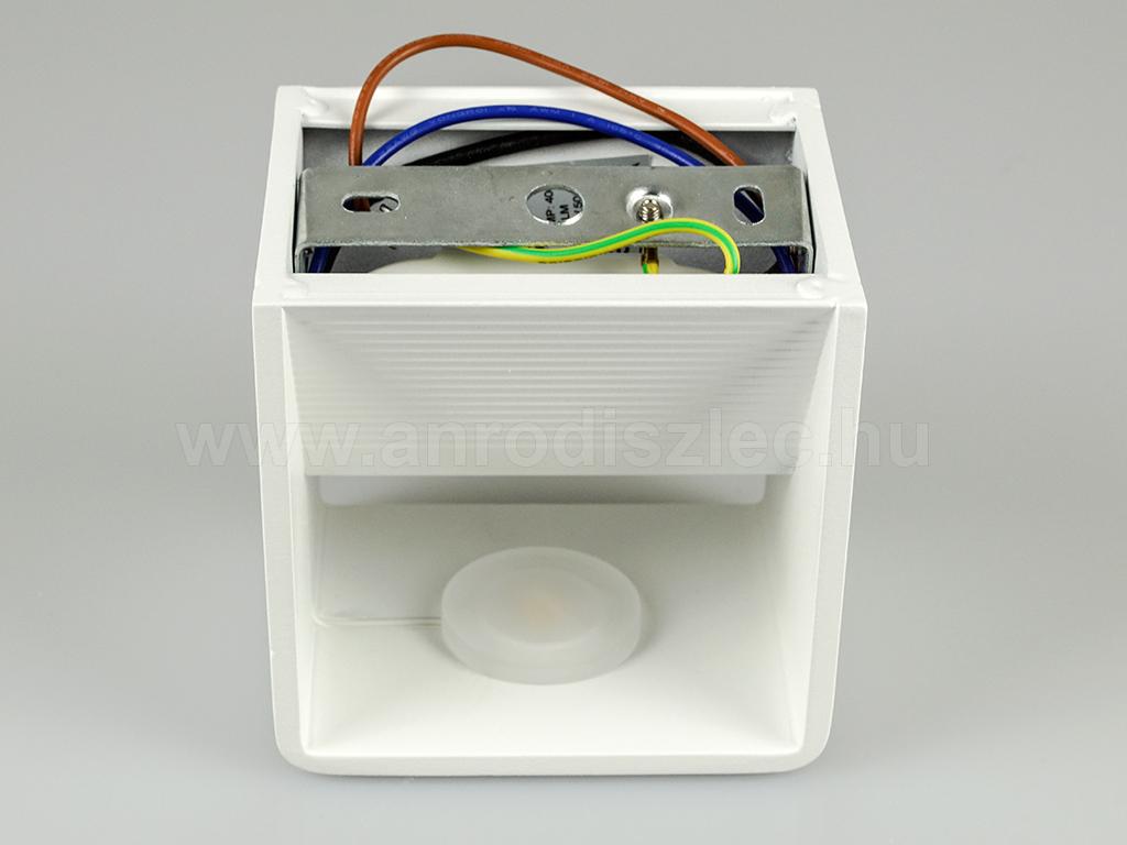 V-TAC Pyramid oldalfali lámpatest, fehér (5W BL) meleg fehér