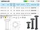 Elmark Kerti oszlopos LED lámpa (968LEDP500) 6W - 50 cm term.f.