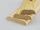 Fa díszléc: 2 oldalán lekerekített, fa díszítőléc, gyalult skandináv fenyőből (10x30mm)