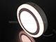 V-TAC CR80 LED panel (kör, oldalvilágítós) 12+3W - meleg fényű