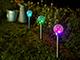 Kerti szolár lámpa, földbe szúrható (üveggömb) - RGB színváltós fény