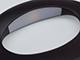 V-TAC Ovale oldalfali dekor lámpatest - fekete (10W) - meleg fehér
