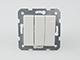 Panasonic Csillárkapcsoló, hármas, keret nélkül, fehér