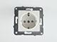Panasonic Aljzat 2P+F, gyermekvédelemmel, keret nélküli, fehér