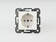 Panasonic Aljzat 2P+F, gyermekvédelemmel, keret nélküli, fehér, csavaros