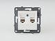 Panasonic RJ45 CAT 6 dupla fali aljzat, keret nélkül, fehér
