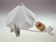 V-TAC - Pastel modern csillár (E27) fehér + fa - prizma forma