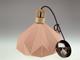 V-TAC Pastel Wood modern csillár (E27) pink bura + fa dekor