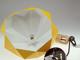 V-TAC Pastel Wood modern csillár (E27) sárga bura + fa dekor