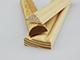 Fa díszléc: hullám mintás fa díszítőléc, gyalult skandináv fenyőből (10x30mm)