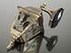 Rábalux Haga kültéri oldalfali lámpa (E27) antik arany