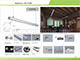 ANRO LED ALP-008 Aluminium kör profil ezüst, LED szalaghoz, opál burával