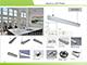 ANRO LED ALP-028 Aluminium függeszthető profil ezüst, LED szalaghoz, opál burával