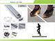 ANRO LED ALP-033 Aluminium U profil ezüst, LED szalaghoz, lépésálló, PC diffúz burával