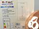 V-TAC Fém csillár (E27), felfüggeszthető, gömb bura, M, rose gold