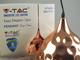 V-TAC Fém csillár (E27), függeszthető, harang forma, XL, rose gold