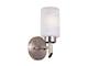 Elmark Sara szatén falikar - (1xE27) - mintás, henger alakú üveg bura