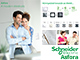 Schneider Electric Asfora - Kapcsoló, kettős váltókapcsoló, komplett, fehér