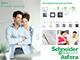 Schneider Electric Asfora - Keret, függőleges, 3-as, fehér