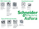 Schneider Electric Asfora - Keret, 3-as, bézs