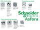 Schneider Electric Asfora - Aljzat 2P+F, csapfedeles, keret nélkül, acél