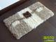 Függöny Center Shaggy lábtörlő 5 cm-es, (Kocka 3082) Krém-barna 70x40 cm