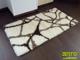 Függöny Center Shaggy szőnyeg 5 cm-es, (S111A) Fehér 80x250 cm