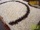 Függöny Center Shaggy Bantu szőnyeg 5 cm (701) natúr kör 160x230 cm