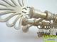 Függöny Center Siero karnis arany-fehér Royal véggel, kétsoros, 140 cm