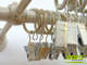 Siero fém függönycsipesz (10 db) arany-fehér