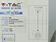 V-TAC Fém csillár (E27), függeszthető, Bell harang forma, S, króm