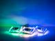 Kanlux SideLight Soren üveg spot lámpatest, négyzet, kék színű LED oldalvilágítás