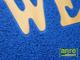 Függöny Center Spagetti mintás szennyfogó szőnyeg - Kék (60x85 cm)