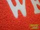 Spagetti mintás szennyfogó szőnyeg - Piros (60x85 cm)