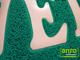 Függöny Center Spagetti mintás szennyfogó szőnyeg - Zöld (60x85 cm)