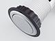 deLight Rejtett elosztó bútorlapba építhető, kör alakú (3-as), ezüst, kapcsolóval