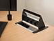 deLight Süllyeszthető elosztó asztalba, kábelkivezetővel, alu (3-as)